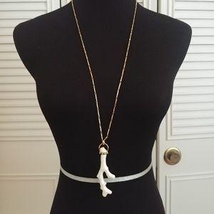 Long Boho Style Porcelain Bone Necklace